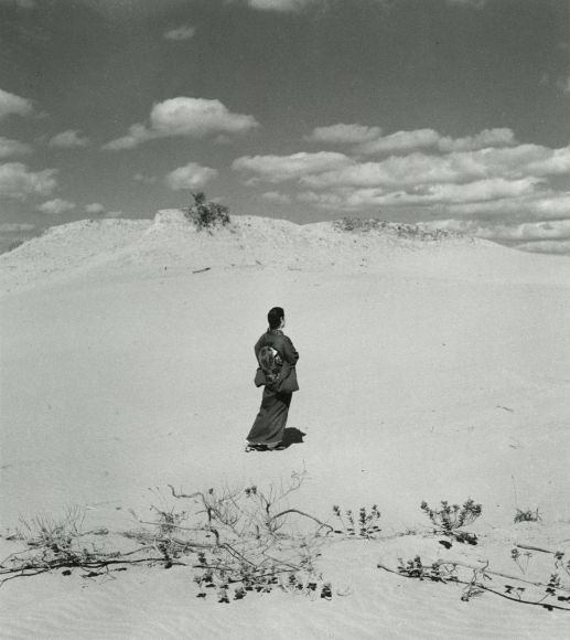 Shōji Ueda - Sand Dune with My Wife, c.1950 - Howard Greenberg Gallery
