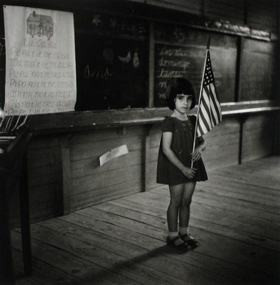 Jack Delano - Pledging Allegiance to the Flag in a School in Puerto Rico, 1946 - Howard Greenberg Gallery
