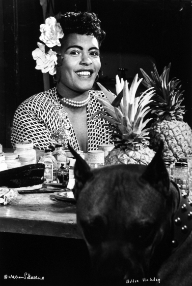 William Gottlieb - Billie Holiday with her boxer, Mister, c.1948 - Howard Greenberg Gallery