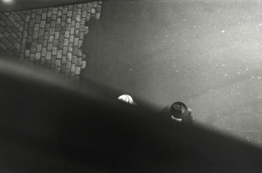 Saul Leiter - From the El with Bob Weaver, c.1955 - Howard Greenberg Gallery