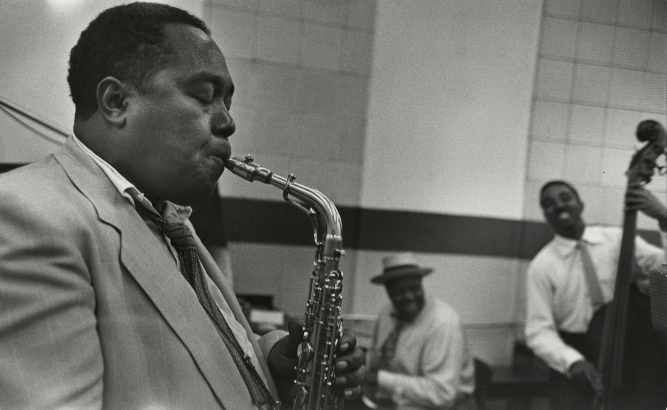 Esther Bubley - Charlie Parker, Norman Granz Jam Session, 1952 - Howard Greenberg Gallery
