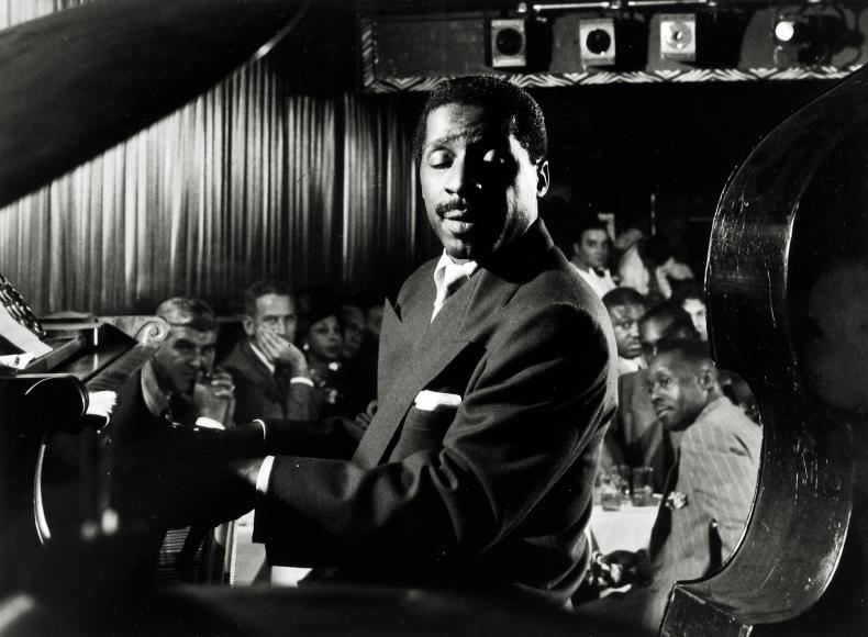 "Dennis Stock - Erroll Garner, American Jazz Pianist at the ""Three Duces"", NY, 1958 - Howard Greenberg Gallery"