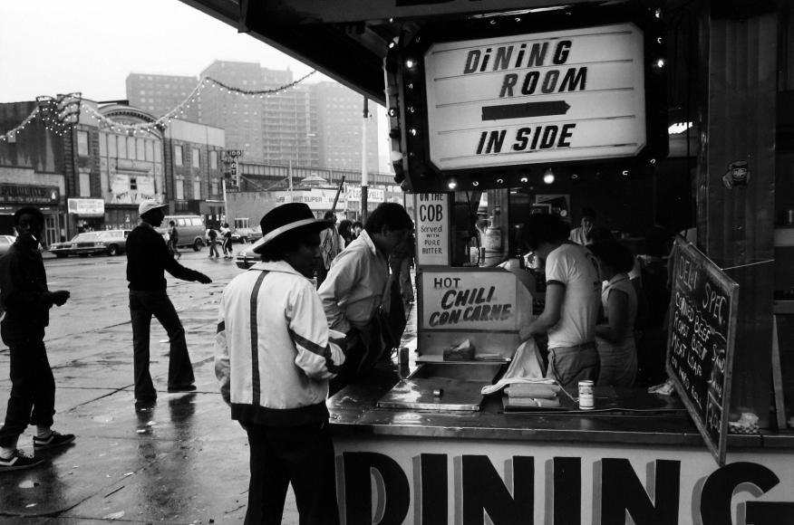 Tom Arndt - Street scene, Coney Island, 1978   - Howard Greenberg Gallery