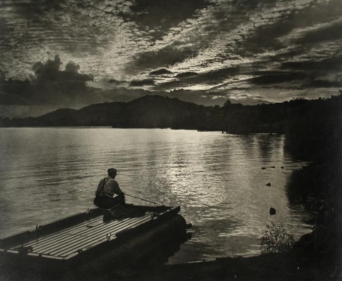Adolf Fassbender - Sunset O'er Mohawk, 1940s - Howard Greenberg Gallery