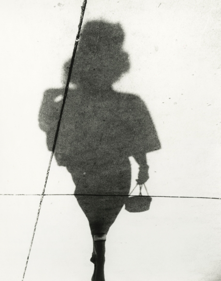 Woman in High Heels with Purse, Shadow Series, Chicago, 1951 Gelatin silver print; printed later, howard greenberg gallery, 2020