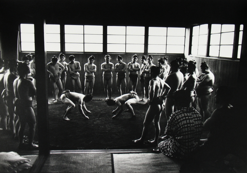 Ed Van der Elsken - Sumo Wrestlers in Training Camp, Tokyo December, 1959 - Howard Greenberg Gallery