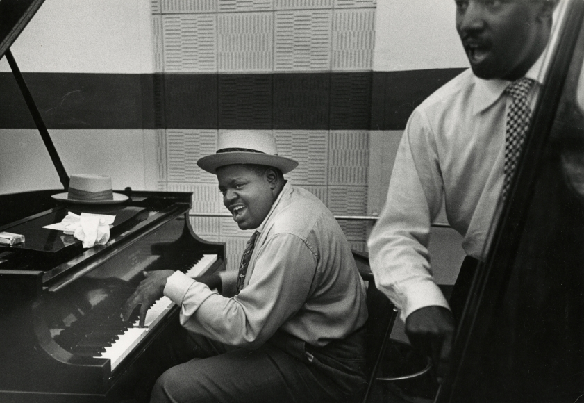 Esther Bubley - Oscar Peterson and Ray Brown, Norman Granz Jam Session, LA, 1952 - Howard Greenberg Gallery