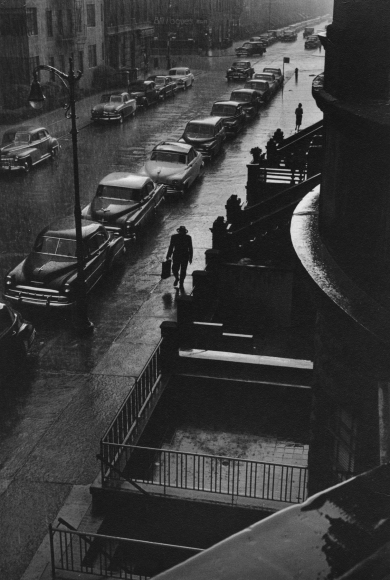 Ruth Orkin - Man in Rain, 1952 - Howard Greenberg Gallery