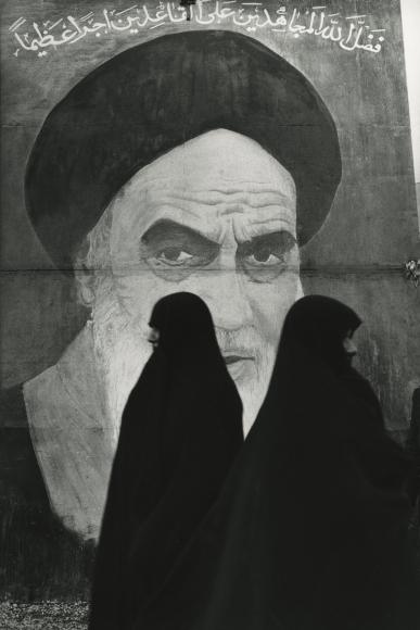 Marc Riboud - Khomeini Poster, Tehran, 1979 - Howard Greenberg Gallery