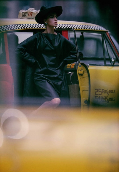 William Klein - Antonia + Yellow Taxi, New York, 1962 - Howard Greenberg Gallery