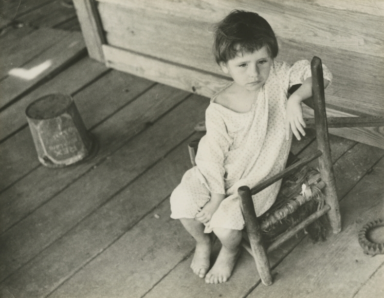 Walker Evans  Laura Minnie Lee Tengle, Hale County, Alabama, 1936 Gelatin silver print; printed c.1936 5 7/8 x 7 1/2 inches, Howard Greenberg Gallery, 2020