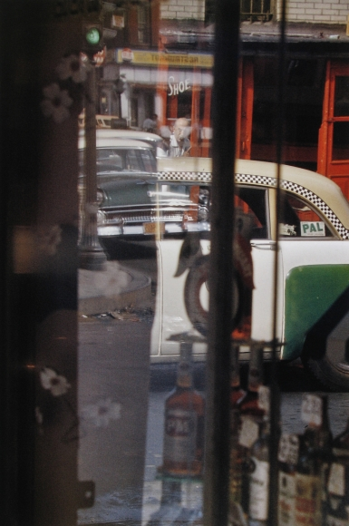 Saul Leiter, Taxi 1/3 AP, 1956 Chromogenic print; printed later 20 x 16 inches