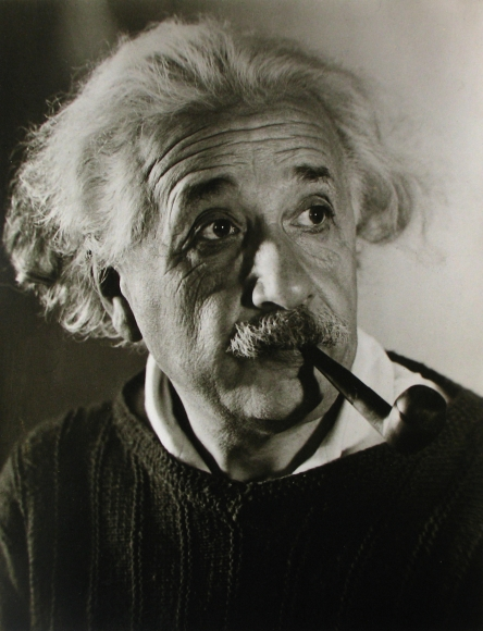 Roman Vishniac - Albert Einstein in Princeton, c. 1941 - Howard Greenberg Gallery