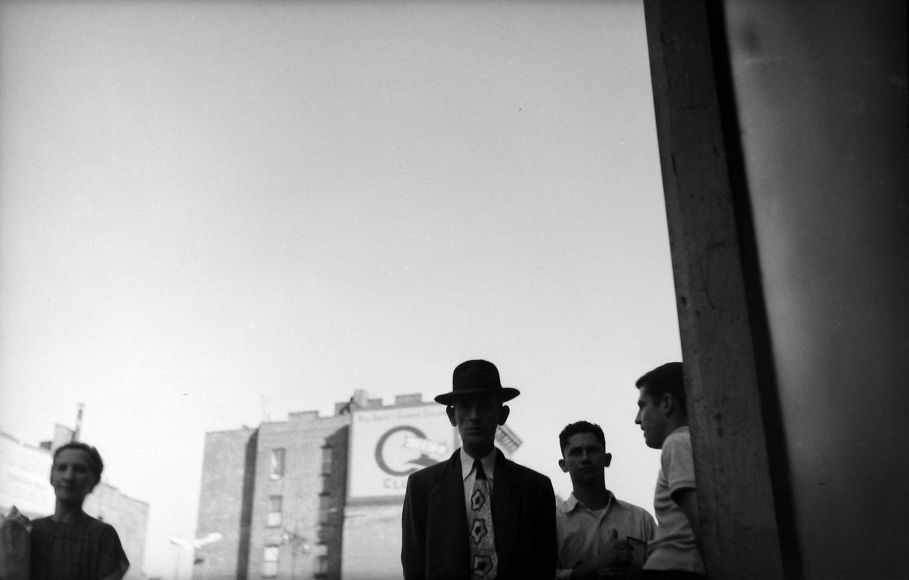 Saul Leiter - Man with Tie, c.1949 - Howard Greenberg Gallery
