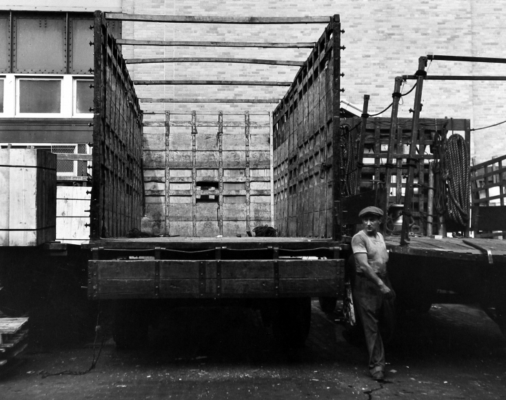 Morris Engel - Trucker, Waterfront, New York City, 1948 - Howard Greenberg Gallery