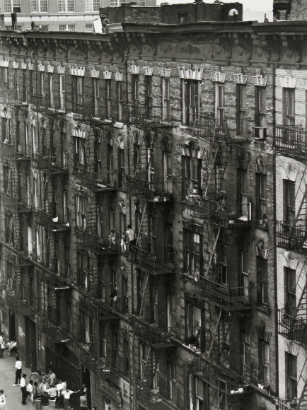 Bruce Davidson - East 100th Street Facade, c.1966 - Howard Greenberg Gallery