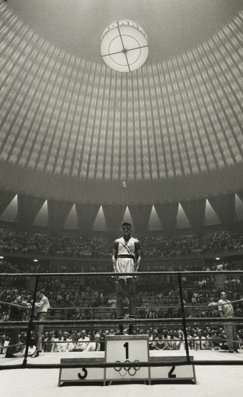 Cassius Clay (Muhammad Ali), Olympic Boxing Gold Medal Winner, Rome, 1960 Gelatin silver print; printed later, howard greenberg gallery, 2020