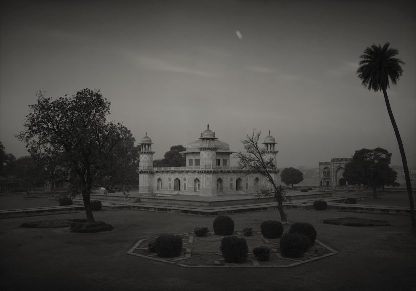 Itimad-ud-daulah #110, Agra, India, 1997  Platinum palladium print   14 x 20 inches  From an edition of 20  Mounted. Signed, dated and numbered in pencil on print recto. Photographer's stamp with signature, title, negative number, print date and edition number in pencil on mount verso.   $3,500.00