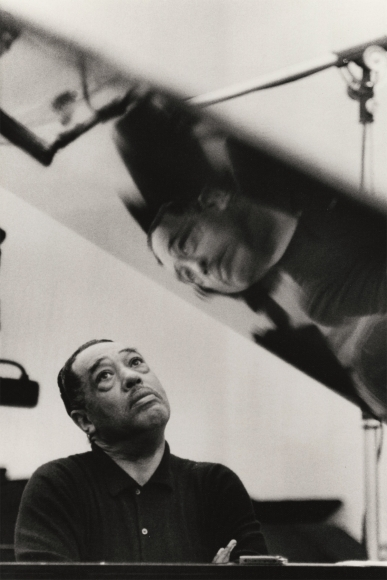 Gordon Parks - Duke Ellington Listening to Playback, Los Angles, California, 1960 - Howard Greenberg Gallery
