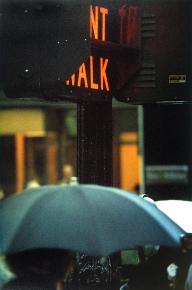 Saul Leiter, Don't Walk, 1952 Chromogenic print; printed later 14 x 11 inches