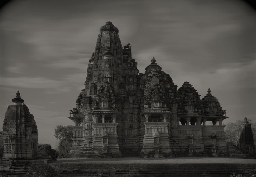 Khajuraho #129, India, 1997   Platinum palladium print; printed 2010   14 x 20 inches  From an edition of 20  Mounted. Signed, dated and numbered in pencil on print recto. Photographer's stamp with signature, title, negative number, print date and edition number in pencil on mount verso.   $3,500.00