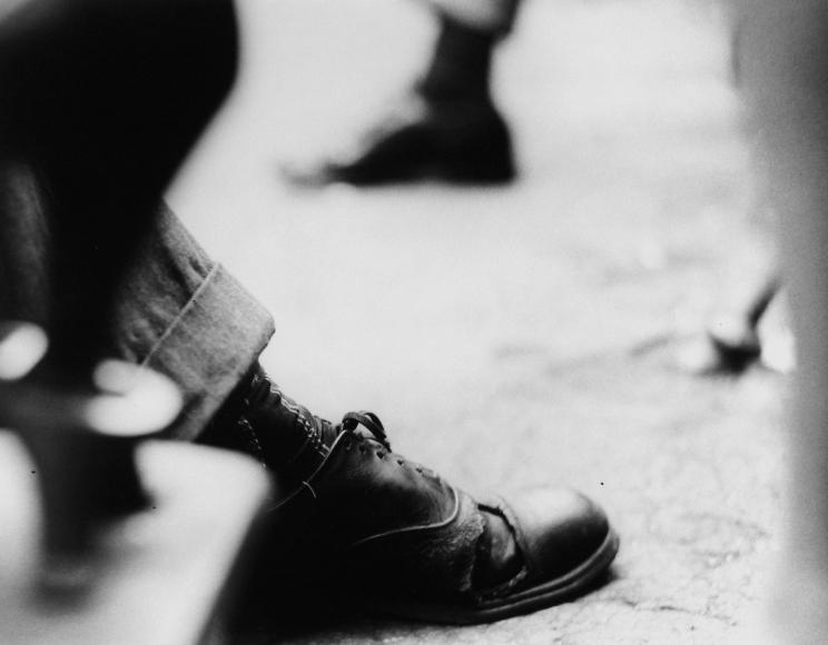 Saul Leiter - Torn Shoe, c.1950 - Howard Greenberg Gallery