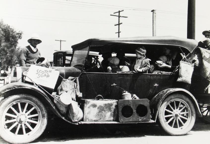 Dorothea Lange - Oklahoma dust bowl refugees, San Fernando, California, 1935 - Howard Greenberg Gallery