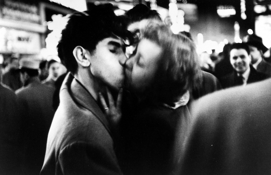 Dan Weiner - New Year's Eve, Times Square, NYC, 1951 - Howard Greenberg Gallery