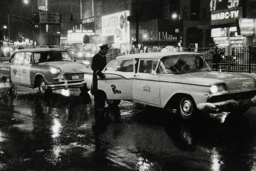 Bedrich Grunzweig - Times Square Taxis, c.1959- Howard Greenberg Gallery
