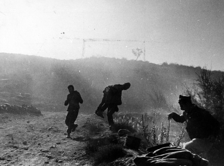 Robert Capa - Battle of Rio Segre, near Fraga, 7-Nov-38 - Howard Greenberg Gallery