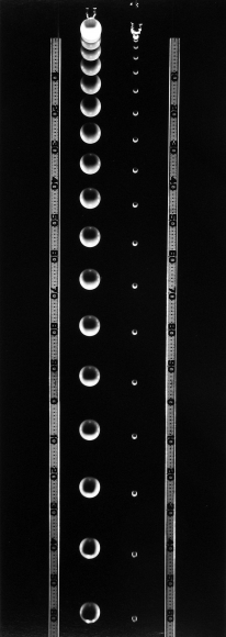 Berenice Abbott - Falling Balls of Unequal Mass - Howard Greenberg Gallery