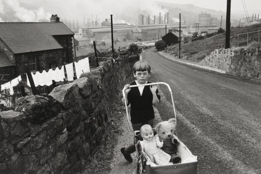 Bruce Davidson - Welsh Child with Stroller, 1965- Howard Greenberg Gallery