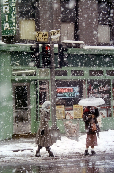 Saul Leiter, Untitled (San Carlo Restaurant at 3rd Avenue and E. 10th Street), 1952 Chromogenic print; printed later 14 x 11 inches