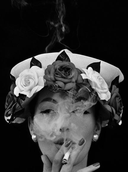 William Klein - Hat + 5 Roses, Paris (Vogue), 1956 - Howard Greenberg Gallery