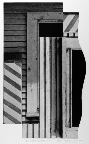 Arnold Newman - Barber Shop Cutout, West Palm Beach, FL, 1940 - Howard Greenberg Gallery