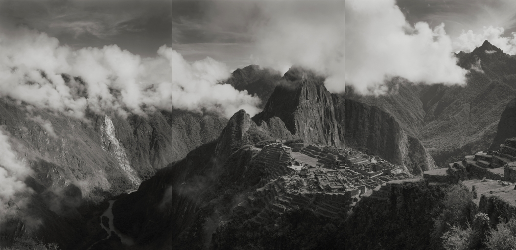 Machu Pichu #6, 2001   Platinum palladium print   SIZE????  From an edition of ??????  Mounted. Numbered in pencil on print recto. Photographer's stamp with signature, title, negative number, print date and edition number in pencil on mount verso.   $7,000.00