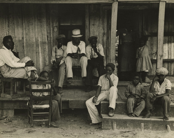 Ben Shahn, Sharecropper's children on Sunday, Little Rock, Arkansas, October 1935 Gelatin silver print, printed c.1935 7 5/8 x 9 5/8 inches, Howard Greenberg Gallery, 2020
