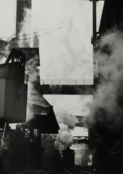 Margaret Bourke-White - Steaming hot steel slag, Pittsburgh, 1936 - Howard Greenberg Gallery