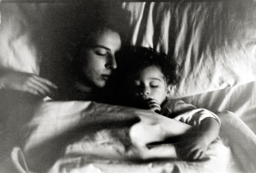 Robert Frank - Mary and Pablo in Bed, c.1954 - Howard Greenberg Gallery