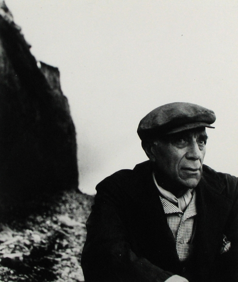 Bill Brandt - Georges Braque on the Beach at Varengeville, Normandy, 1955 - Howard Greenberg Gallery