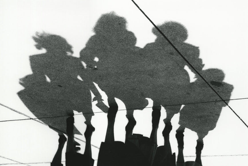 5 Women, Shadow Series, Chicago, 1951 Archival pigment print; printed later, howard greenberg gallery, 2020