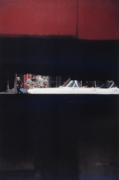 Saul Leiter - Through Boards, 1957 - Howard Greenberg Gallery