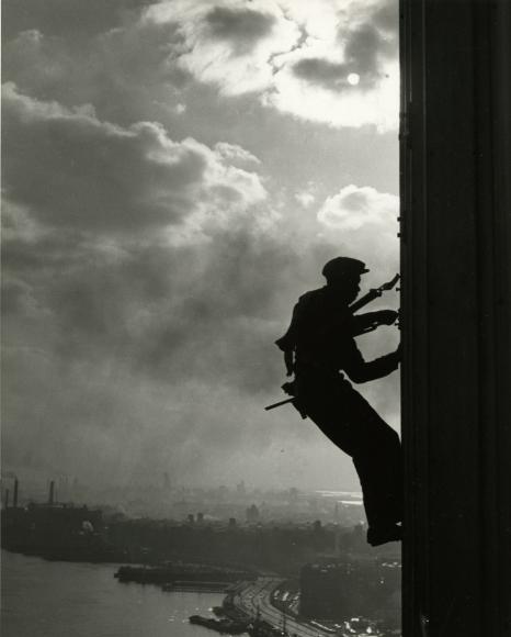 Bedrich Grunzweig - Human Fly, U.N. Window Washer, 1950- Howard Greenberg Gallery