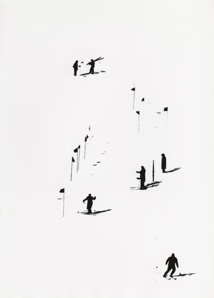 Skiers, 1953 Gelatin silver print; printed later, howard greenberg gallery, 2020