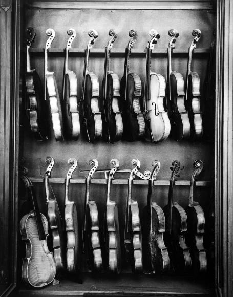 Arnold Newman - Violins, Philadelphia, PA, 1941 - Howard Greenberg Gallery