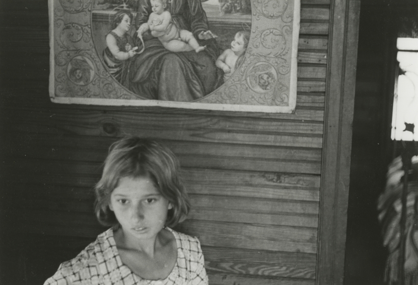 Ben Shahn  Child of Fortuna Family, Hammond, Louisiana, October 1935 Gelatin silver print; printed c.1935 7 5/8 x 9 1/2 inches, Howard Greenberg Gallery, 2020