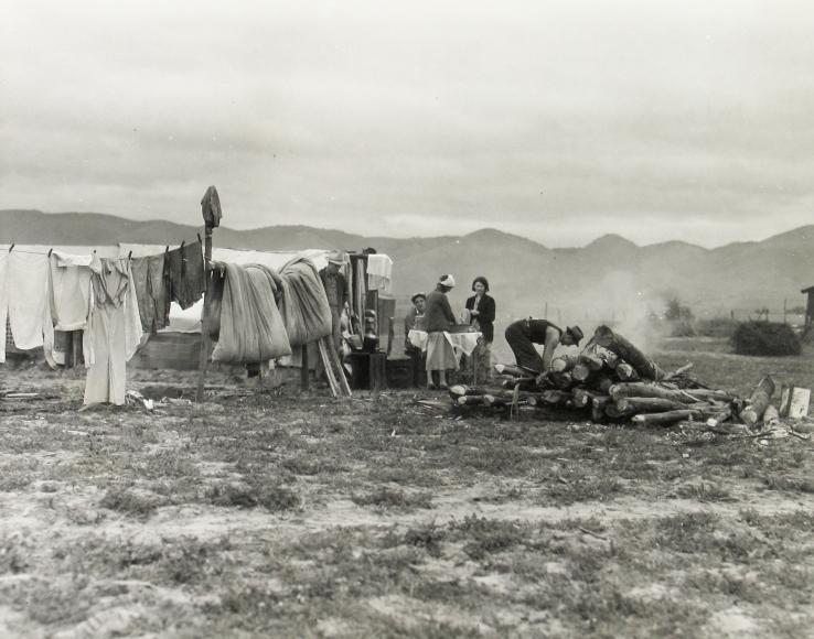 Dorothea Lange - Arkansas family, seven months in California, Feb, 1936 - Howard Greenberg Gallery