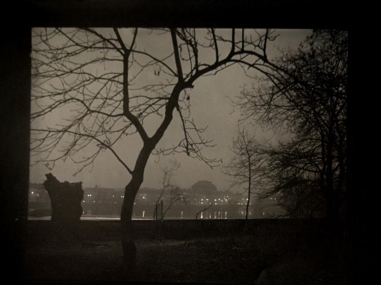 Josef Sudek - View of Prague from Kampa Island, c.1950 - Howard Greenberg Gallery