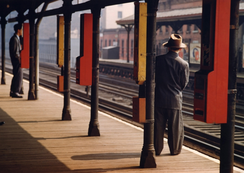 Esther Bubley - Man on Platform, c.1951 - Howard Greenberg Gallery