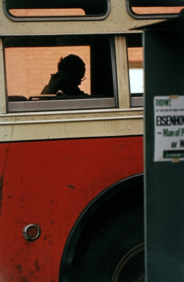 Saul Leiter, Bus, 1954 Chromogenic print; printed later 14 x 11 inches